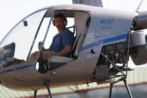 Here is Mike Ross In His R22 Helicopter.