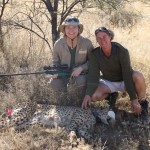 CCF Veterinarian Dr. Gabriella Flacke With CCF Cheetah Husbandry Team Leader Juliette Erdtsieck And Sleeping Bella