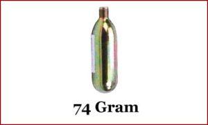 CO2 Cartridge, 74 gram
