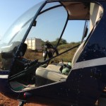 Helicopter Used In Rhino Capture For Conservation