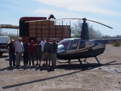 Mike Ross In Mexico With His Helicopter