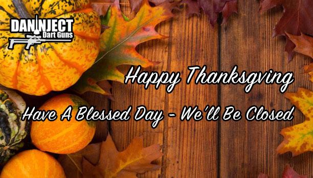 Happy Thanksgiving – Closed From Wednesday November 22 to Sunday November 26
